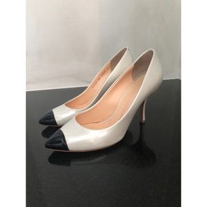 Giuseppe Zanotti pearl and black pumps size 8